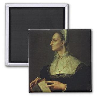 Retrato de Laura Battiferri, c.1555-60 (el panel) Imán Cuadrado