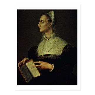 Retrato de Laura Battiferri, c.1555-60 (el panel) Tarjetas Postales