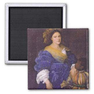 Retrato de Laura De Dianti Imán Cuadrado
