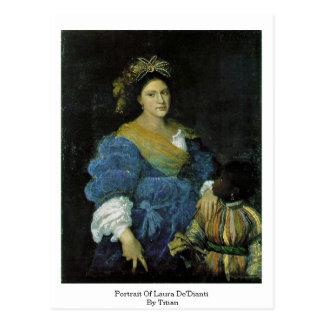 Retrato de Laura De'Dianti por Titian Postal