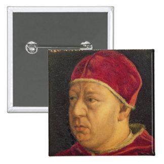 Retrato de León X Pin Cuadrado