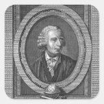 Retrato de Leonard Euler Pegatina Cuadrada