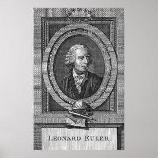 Retrato de Leonard Euler Póster