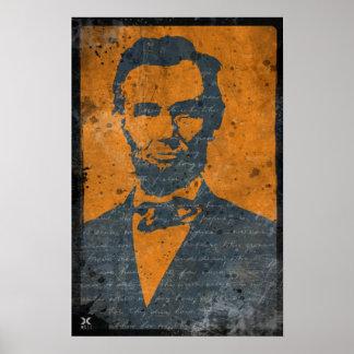 Retrato de Lincoln del estilo de Darkana Póster