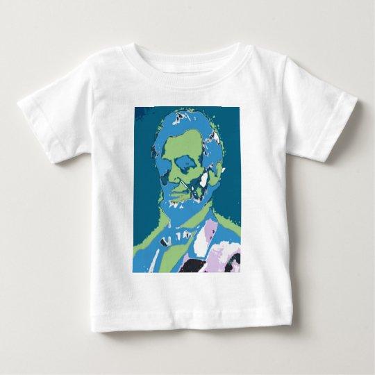 Retrato de Lincoln en azul Playera De Bebé