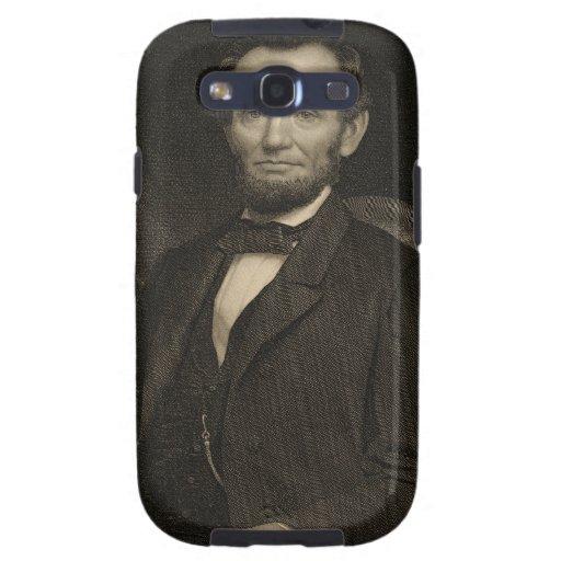 Retrato de Lincoln que lleva a cabo un documento e Galaxy S3 Fundas