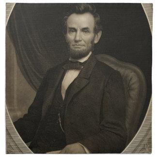 Retrato de Lincoln que lleva a cabo un documento e Servilletas De Papel