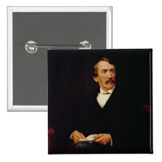 Retrato de Livingstone Pin Cuadrado