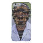 Retrato de llevar del árbitro del béisbol funda para iPhone 6 barely there