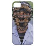 Retrato de llevar del árbitro del béisbol iPhone 5 fundas