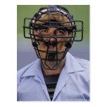 Retrato de llevar del árbitro del béisbol postales