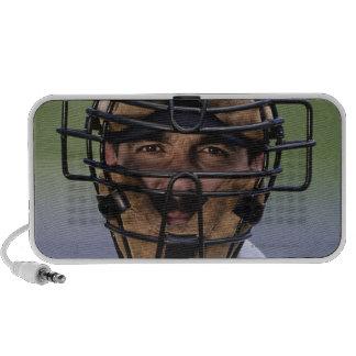 Retrato de llevar del árbitro del béisbol protecto mini altavoz