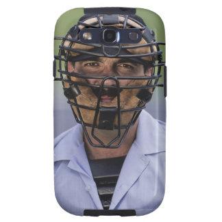 Retrato de llevar del árbitro del béisbol protecto galaxy s3 fundas