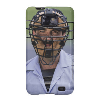 Retrato de llevar del árbitro del béisbol protecto galaxy s2 funda