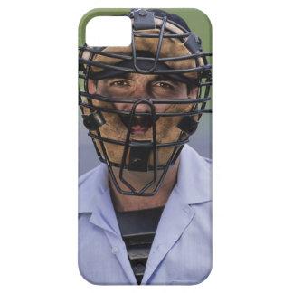 Retrato de llevar del árbitro del béisbol protecto iPhone 5 Case-Mate funda
