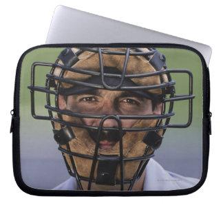 Retrato de llevar del árbitro del béisbol protecto funda portátil