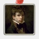 Retrato de los 1790s jovenes de Ingres Ornamento Para Arbol De Navidad