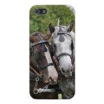 Retrato de los caballos de proyecto iPhone 5 protector