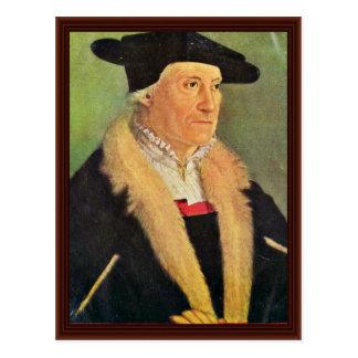 Retrato de los cosmógrafos Sebastian Munster Tarjetas Postales