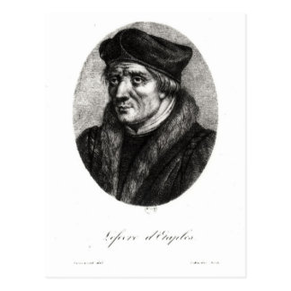 Retrato de los d'Etaples de Jacques Lefevre Tarjetas Postales