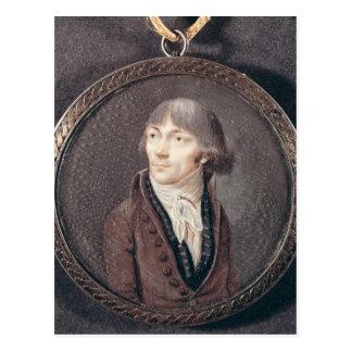 Retrato de los d'Herbois de Jean-Marie Collot Postal