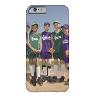 Retrato de los equipos de la liga pequeña funda de iPhone 6 barely there