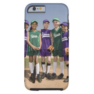 Retrato de los equipos de la liga pequeña funda de iPhone 6 tough