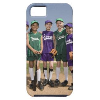 Retrato de los equipos de la liga pequeña funda para iPhone 5 tough