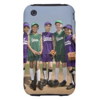 Retrato de los equipos de la liga pequeña iPhone 3 tough protectores