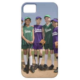 Retrato de los equipos de la liga pequeña iPhone 5 carcasas