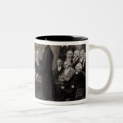 Retrato de los miembros médicos de la sociedad de taza de café