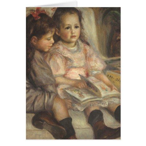 Retrato de los niños de Caillebotte de Pedro Tarjeta De Felicitación
