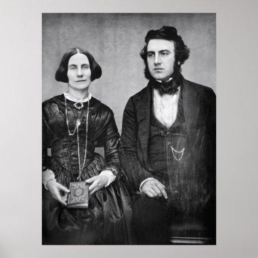 RETRATO de los PARES C. 1845 MARRIED Impresiones