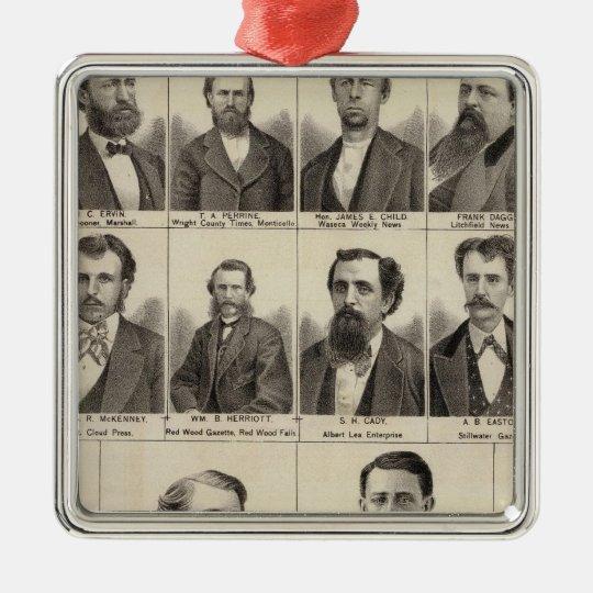 Retrato de los redactores y de Exeditors, Adorno Navideño Cuadrado De Metal