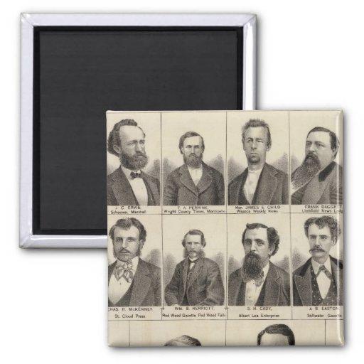 Retrato de los redactores y de Exeditors, Minnesot Imán Cuadrado