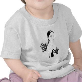 Retrato de los rosas camiseta