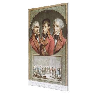Retrato de los tres cónsules de la república impresión en lienzo