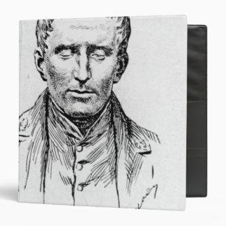 """Retrato de Louis Braille Carpeta 1 1/2"""""""