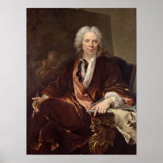 Retrato de Louis Galloche 1734 Poster