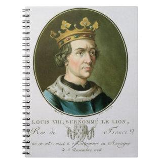 Retrato de Louis VIII llamado Le Lion rey de Cuadernos