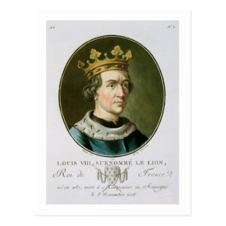 """Retrato de Louis VIII, llamado """"Le Lion"""", rey de Tarjetas Postales"""