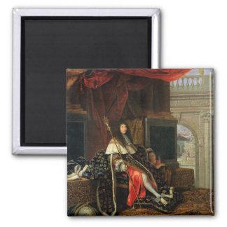 Retrato de Louis XIV 1668 Imán Cuadrado