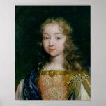 Retrato de Louis XIV como niño Poster