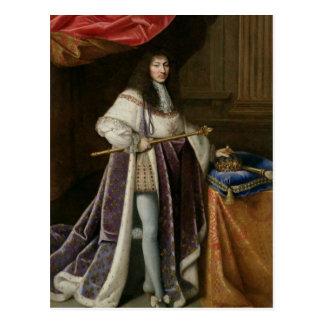 Retrato de Louis XIV Tarjeta Postal