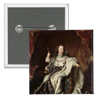 Retrato de Louis XV en trajes de la coronación, 17 Pin Cuadrada 5 Cm