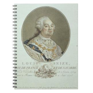 Retrato de Louis XVI (1754-93) de los 'retratos de Libro De Apuntes Con Espiral