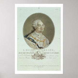Retrato de Louis XVI (1754-93) de los 'retratos de Poster