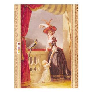 Retrato de Louise-Elisabeth de Francia y ella Postal