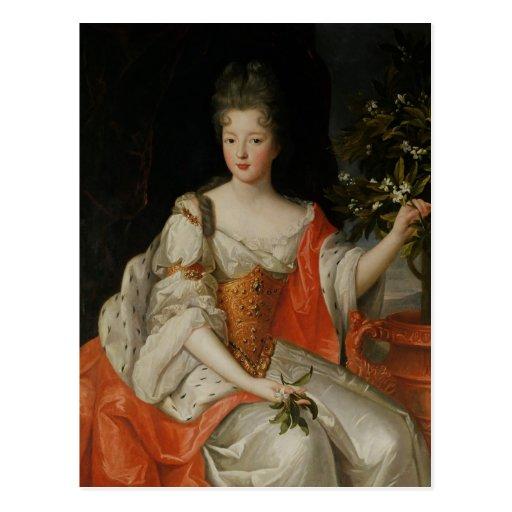 Retrato de Louise-Francoise de Borbón Postales
