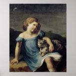 Retrato de Louise Vernet como niño, 1818-19 Poster